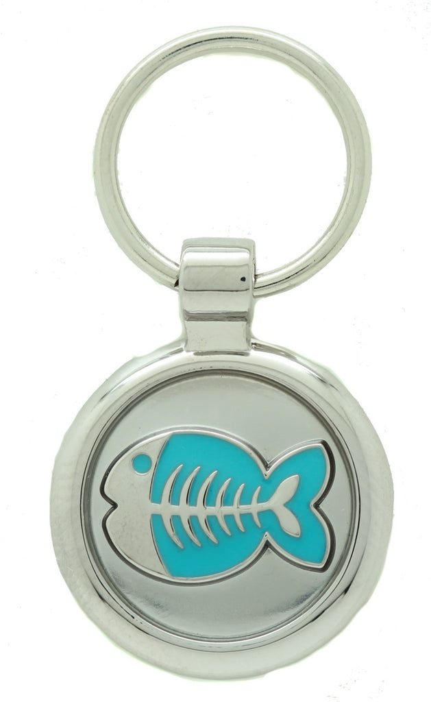 Blue Puppy Collar & Extra Small Fish Pet Tag - Pawprint Pet Tags