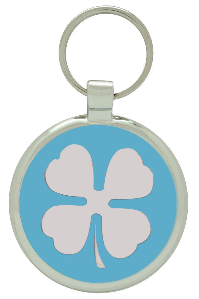 Sky blue Clover Pet Tag - Pawprint Pet Tags
