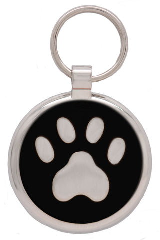 Red Pawprint Pet Tag