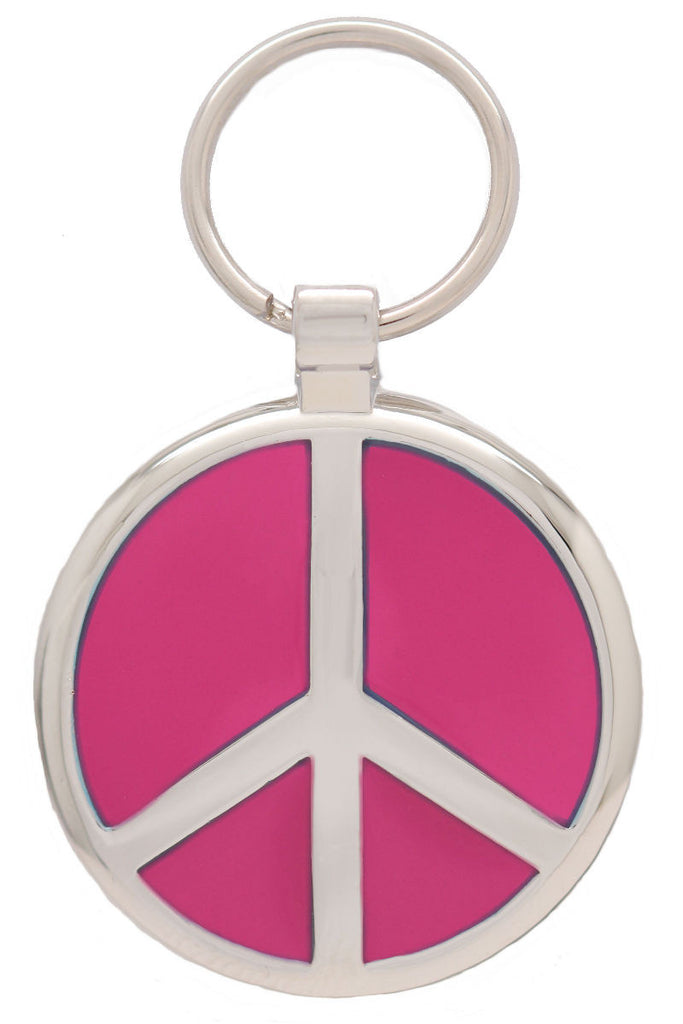 Pink Peace Pet Tag - Pawprint Pet Tags