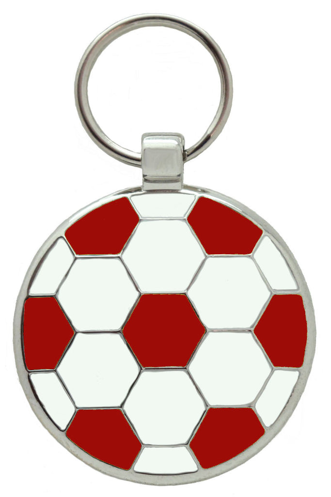 Red Football Pet Tag - Pawprint Pet Tags