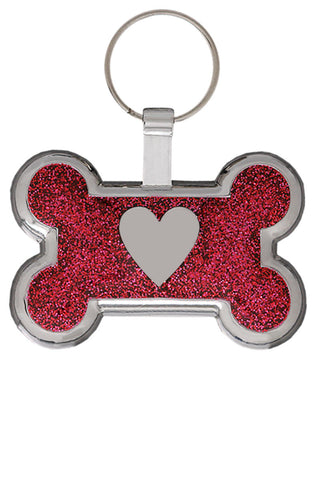Blue Sparkle Pawprint Pet Tag