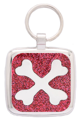 Blue Sparkle Love Heart Pet Tag