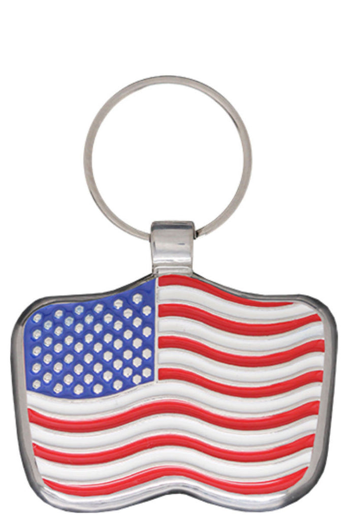 USA Flag Pet Tag - Pawprint Pet Tags
