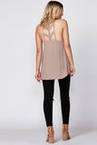 Arrow Back Cami | Taupe