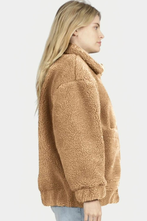 Asher Teddy Jacket | Tan