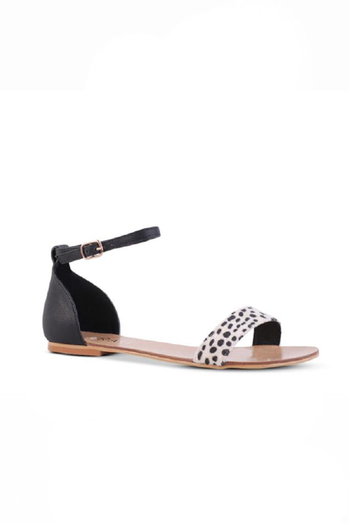 Bailey Sandals | Black / Leopard