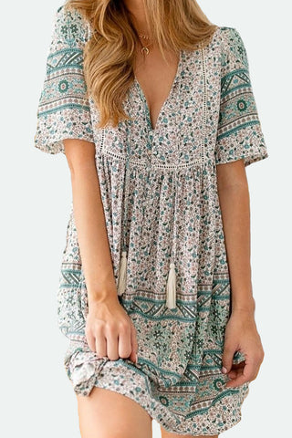 Bonnie Dress | Earthy Florals