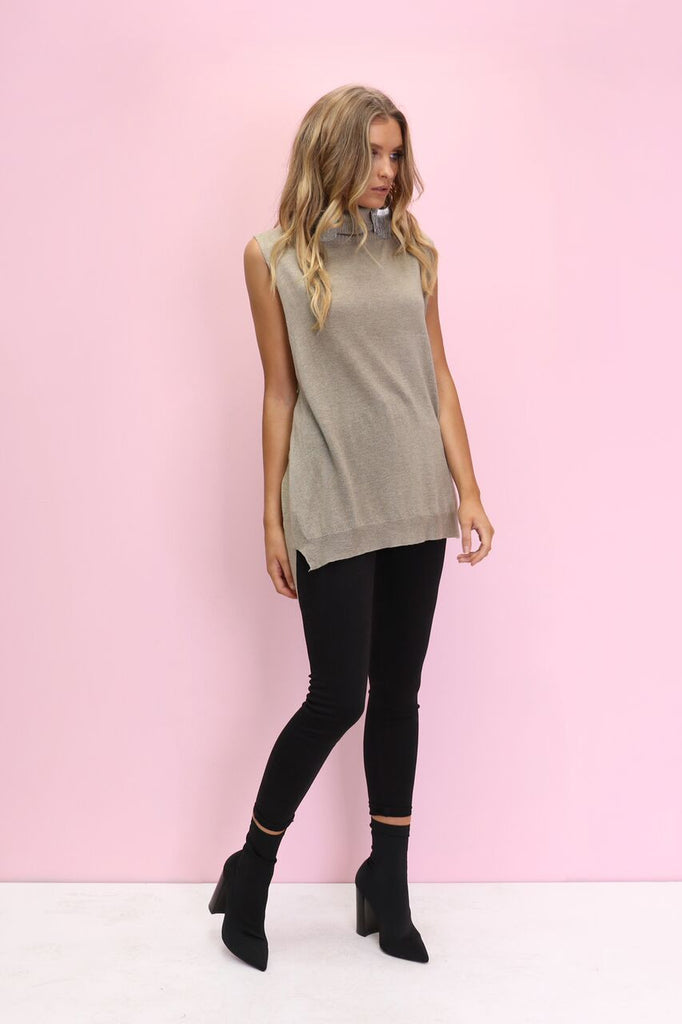 Burning Bright Knit | Khaki
