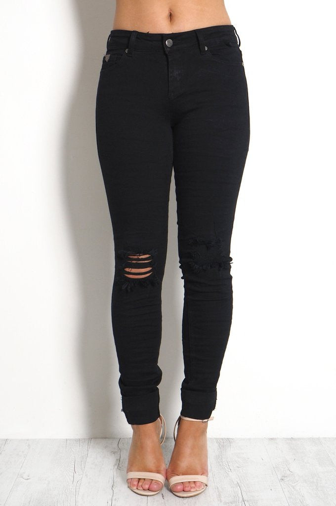 Cass Jean | Black Ripped