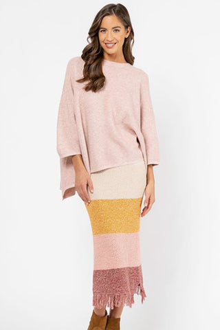 Llyeton Knit | Pink + Grey