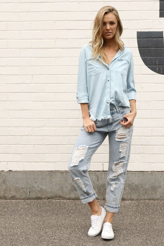 Bella Pant | Denim Marle