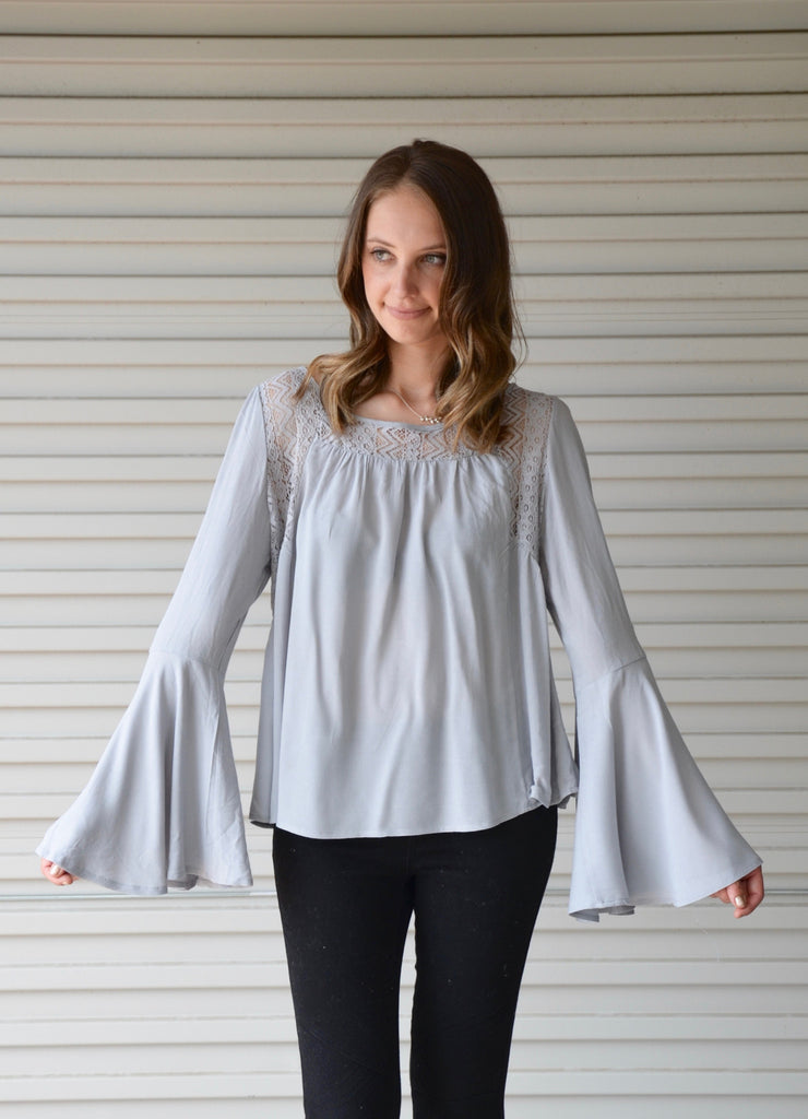 Lacey Blouse | Blue Grey