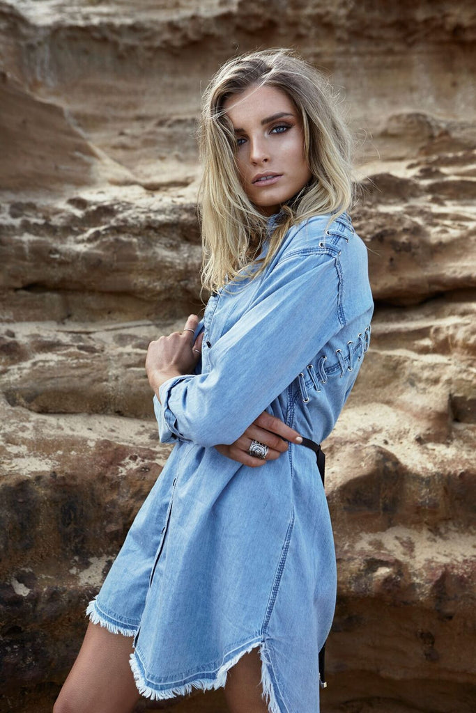 Double Cross Denim Shirt