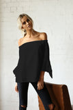 Georgina Off The Shoulder Top | Black