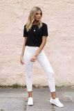 Harper Jeans | White Denim