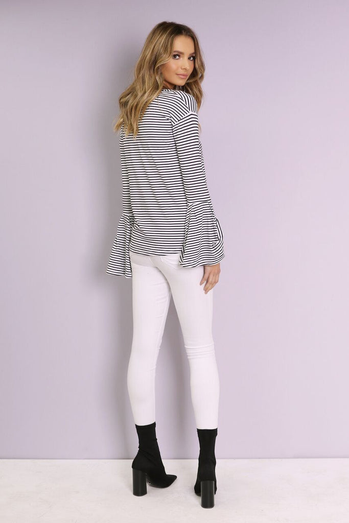 Harvey Top | White Stripe