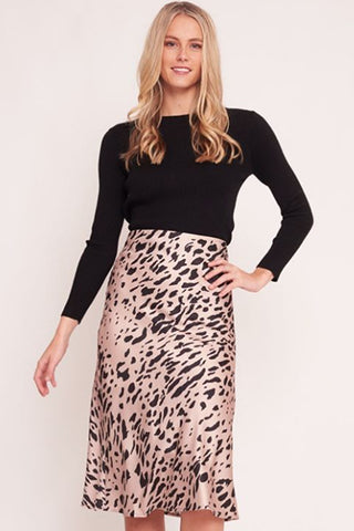 Florence Dress | Mink Leopard