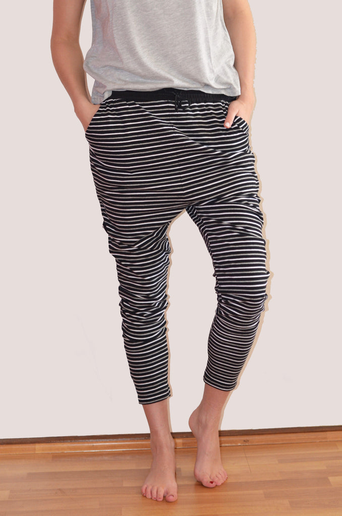 Jade Pants | Black Multi Stripe