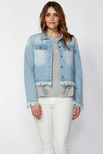 Lexy Raw Edge Denim Jacket