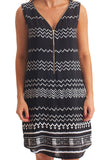 Mia Dress | Black Zig Zag