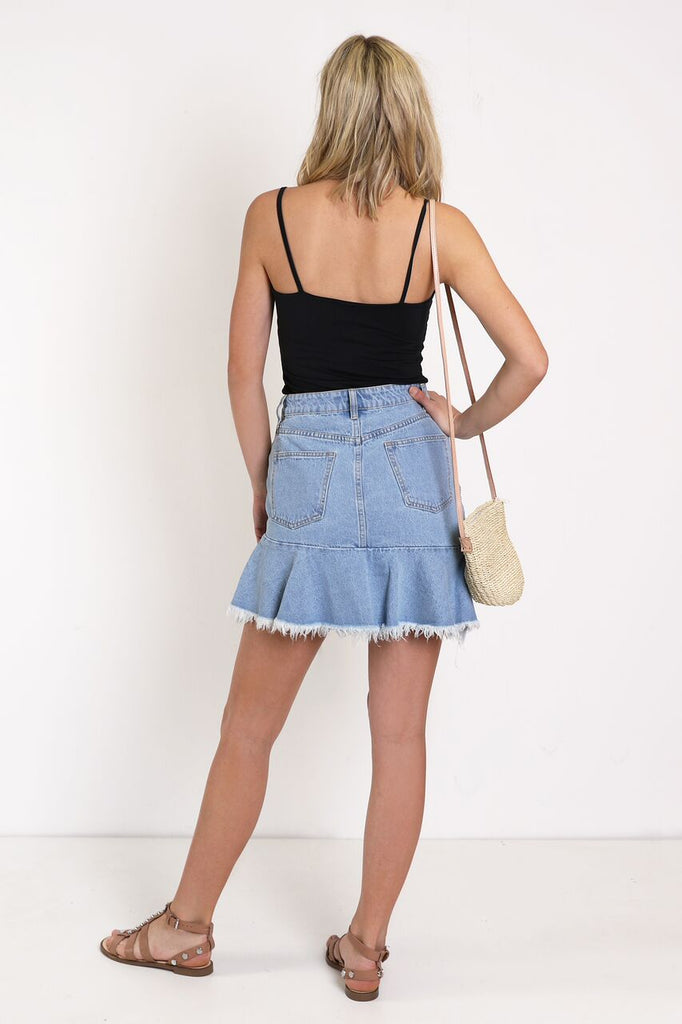 Nolita Skirt | Denim
