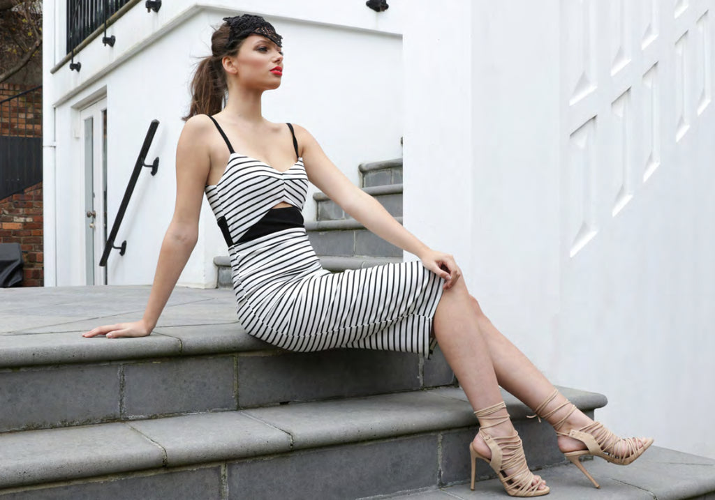 Piper Striped Midi Dress