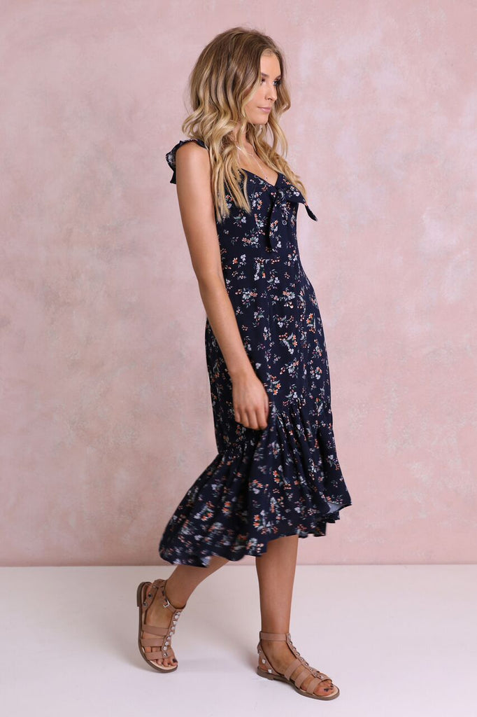 Sierra Midi Dress | Navy