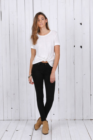 Laid Back Slouch Pants | Light Denim