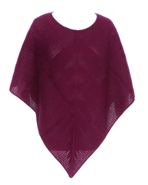 Possum and Merino Lace Poncho