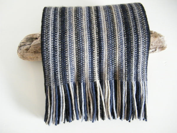 Multi Stripe Possum and Merino Scarf