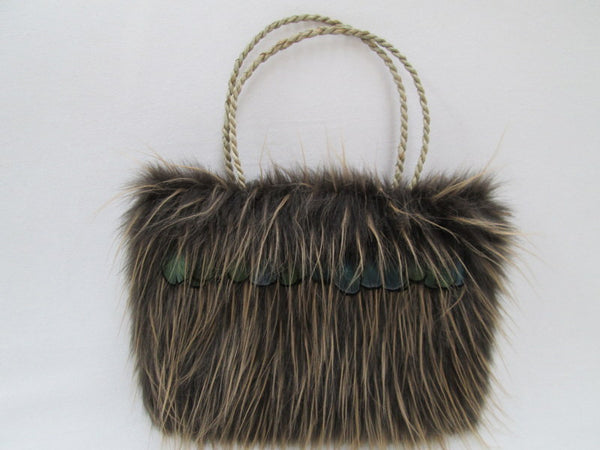 Faux Fur Kite Handbag