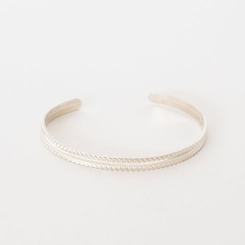 Handcrafted Jewelry-Sterling Silver Bracelet with Scroll Texture