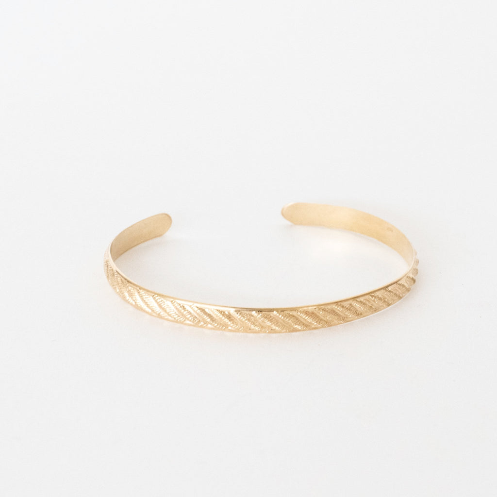 Handcrafted Jewelry-Gold Filled Rope Textured Bracelet