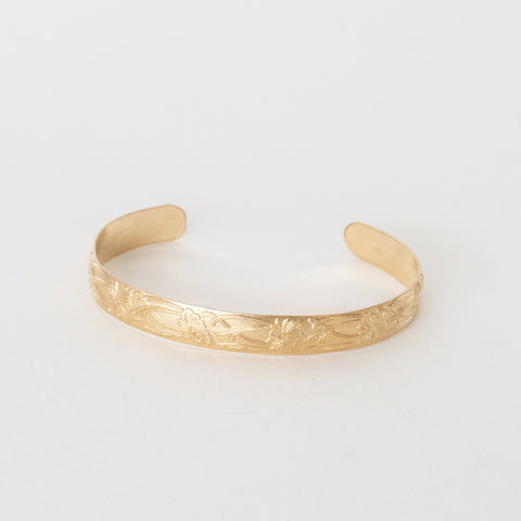 Handcrafted Jewelry-Gold Filled Petal Textured Bracelet