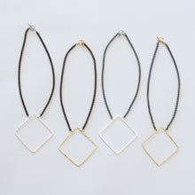 Load image into Gallery viewer, Handcrafted Jewelry-Square Necklaces on Short Chain