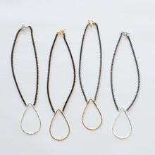 Load image into Gallery viewer, Handcrafted Jewelry-Teardrop Necklace on Short Chain