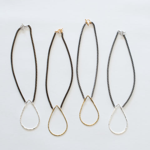 Handcrafted Jewelry-Teardrop Necklace on Short Chain