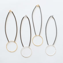 Load image into Gallery viewer, Handcrafted Jewelry-Circle Necklaces on Short Chain