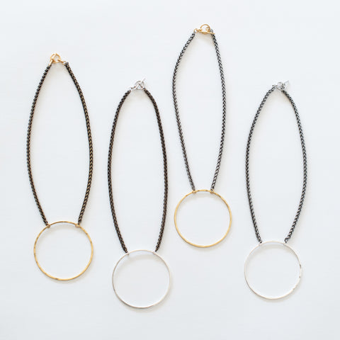 Handcrafted Jewelry-Circle Necklaces on Short Chain