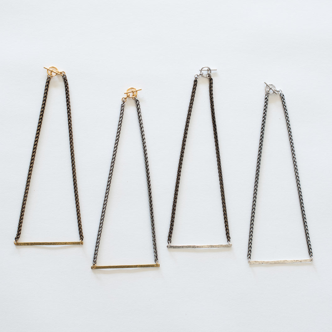 Handcrafted Jewelry-Hammered Bar Necklaces