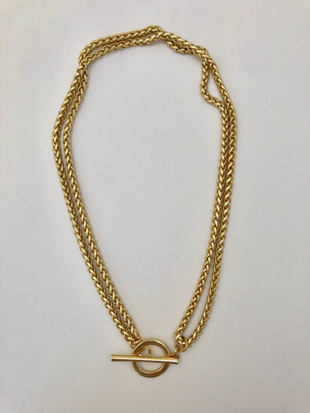 Large Brass Toggle Necklace