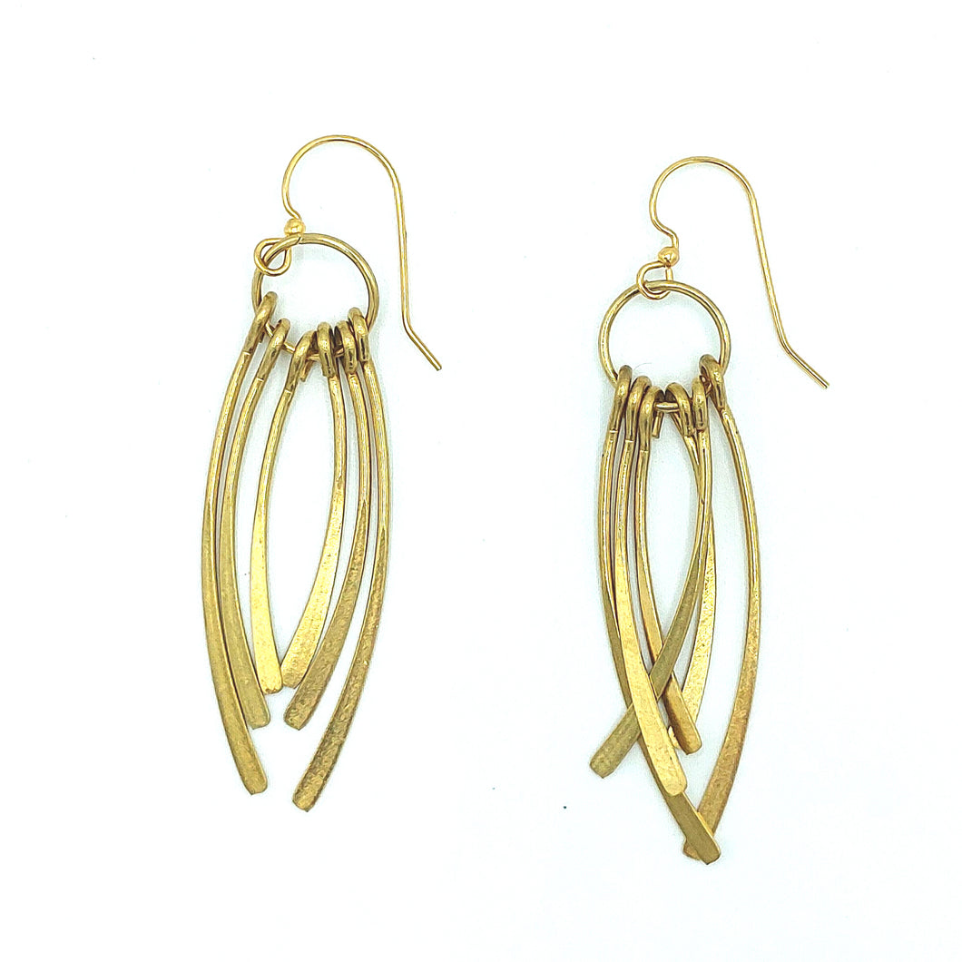 Curved Tassel Earrings