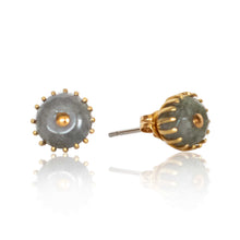 Load image into Gallery viewer, Round Labradorite Post Earrings