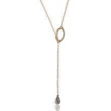 Load image into Gallery viewer, Dainty Oval Lariat