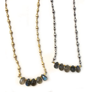 Tiny Labradorite Moroccan Necklace