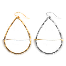 Load image into Gallery viewer, Teardrop Hoop Bar Earrings