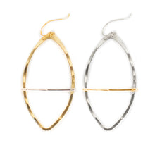 Load image into Gallery viewer, Marquise Bar Hoop Earring