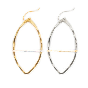 Marquise Bar Hoop Earring