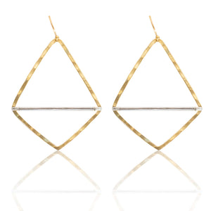 Geometric Bar Hoop Earring